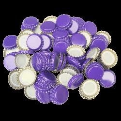 100 Purple Crown Caps - 26mm - For Beer Bottles