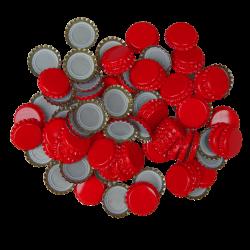 250 Red Crown Caps - 26mm - For Beer Bottles