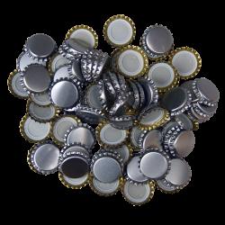 250 Silver Crown Caps - 26mm - For Beer Bottles