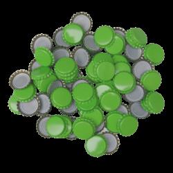 250 Light Green Crown Caps - 26mm - For Beer Bottles