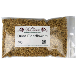 Dried Elderflowers - 50g Bag - Shelled (Without Stems)