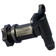 Black Plastic Lever Tap For Fermentation Vessel / King Keg - 25mm Thread