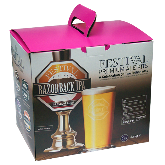 Festival Premium Ale Kit - Razorback IPA - 40 Pint - Strong, Golden Ale