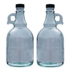 1 Litre Glass Gallone Bottle - Pack of 2