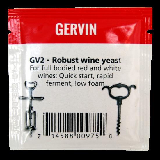 Gervin - GV2 - Robust Wine Yeast - 5g Sachet