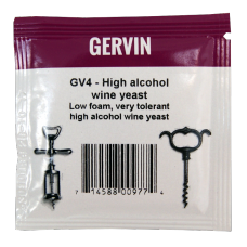 Gervin - GV4 - High Alcohol Wine Yeast - 5g Sachet