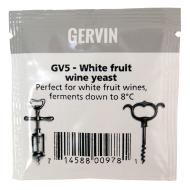 Gervin - GV5 - White Fruit Wine Yeast - 5g Sachet