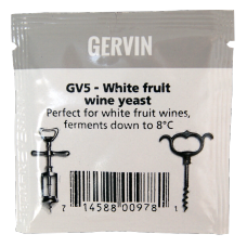 Gervin - GV5 - White Fruit Wine Yeast - 5g Sachet