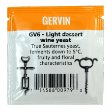 Gervin - GV6 - Light Dessert Wine Yeast - 5g Sachet