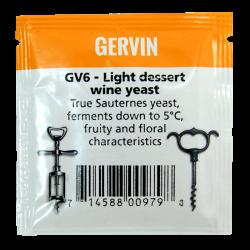 Gervin - GV6 - Light Dessert Wine Yeast - 5g Sachet