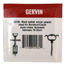 Gervin - GV8 - Red Table Wine Yeast - 5g Sachet