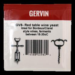 Gervin - GV8 - Red Table Wine Yeast - 5g Sachet