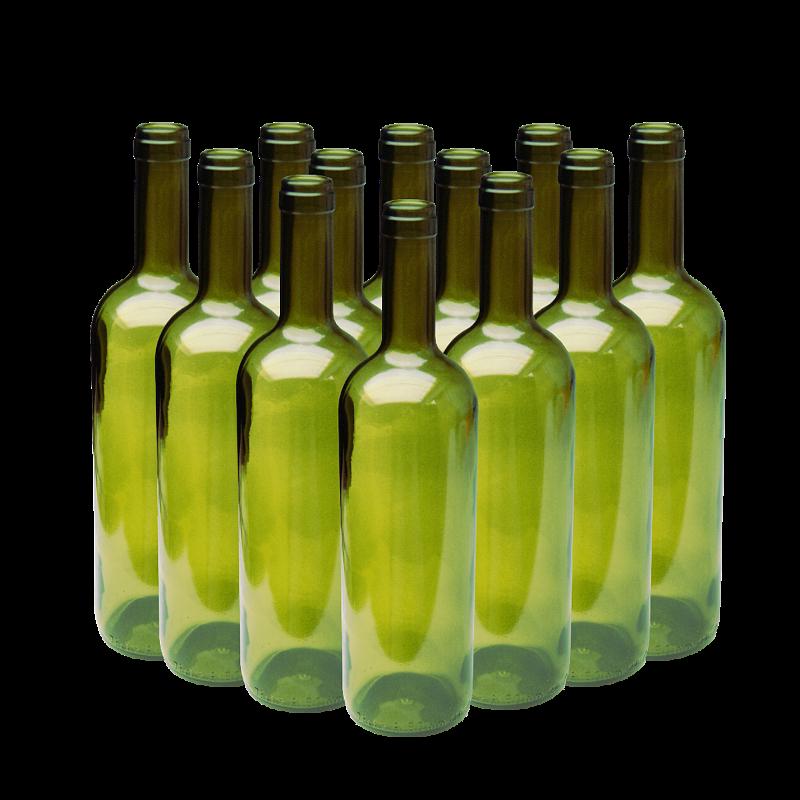 12 green wine bottles for Green wine bottles