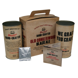 Muntons Hand Crafted Old Conkerwood Black Ale - 40 Pint Kit - Rich, Malty Dark Ale