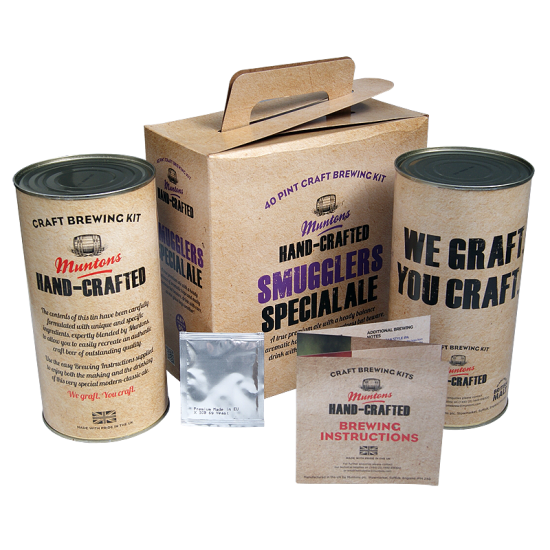 Muntons Hand Crafted Smugglers Special Ale - 40 Pint Kit - Premium Ale