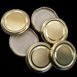 43mm Twist On Jam Jar Lids - Gold - Pack Of 6