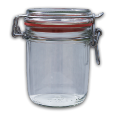370ml Round Preserving Jar With Clip Top Lid & Seal