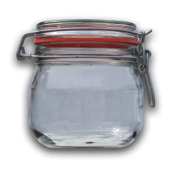 580ml Round Preserving Jar With Clip Top Lid & Seal