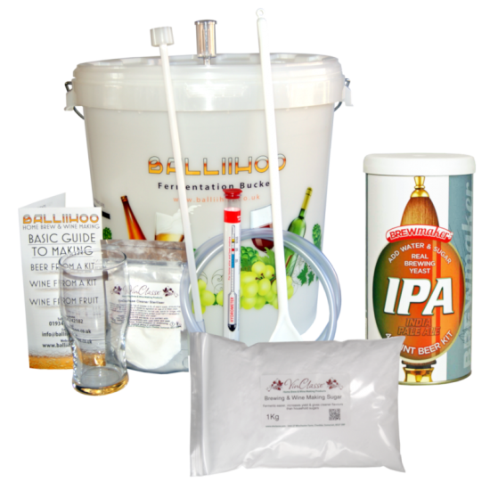 Balliihoo Basic Starter Kit - 40 Pint IPA & 1Kg Brewing Sugar