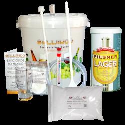 Balliihoo Basic Starter Kit - 40 Pint Pilsner Lager & 1Kg Brewing Sugar