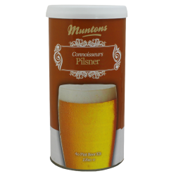 Muntons Connoisseurs Pilsner - 1.8kg - 40 Pint - Single Tin Beer Kit