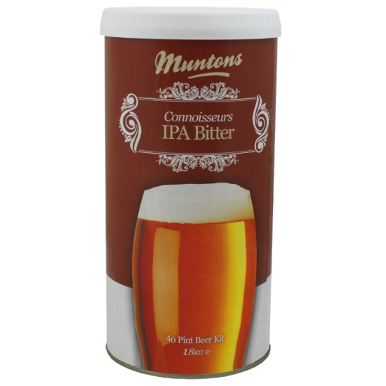 Muntons Connoisseurs IPA Bitter - 1.8kg - 40 Pint - Single Tin Beer Kit