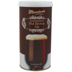 Muntons Connoisseurs Nut Brown Ale - 1.8kg - 40 Pint - Single Tin Beer Kit