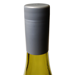 Novatwist Plastic Screw Caps For Wine Bottles. Silver (12)