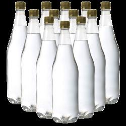 1 Litre Clear PET Bottles - Box of 24 Ideal For Elderflower Champagne