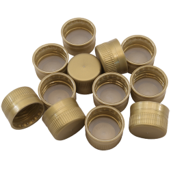 Spare Gold Screw Caps For 1L PET Bottles And Coopers Plastic Beer Bottles - 24 Pack