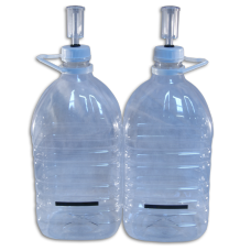 5 Litre PET Plastic Demijohns, LCD Temp Strips & Airlocks-Pack of 2