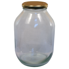 Half Gallon Pickle Jar - With Gold Lid