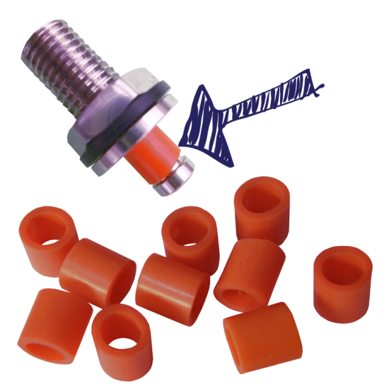 Hambleton Bard S30 Injection (Inlet Only) Valve Rubbers - Orange - x 10