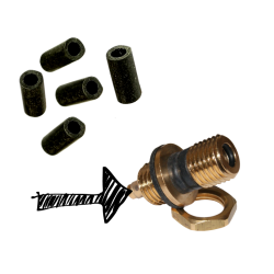 S30 Black Inlet Rubber Seals - Pack Of 5