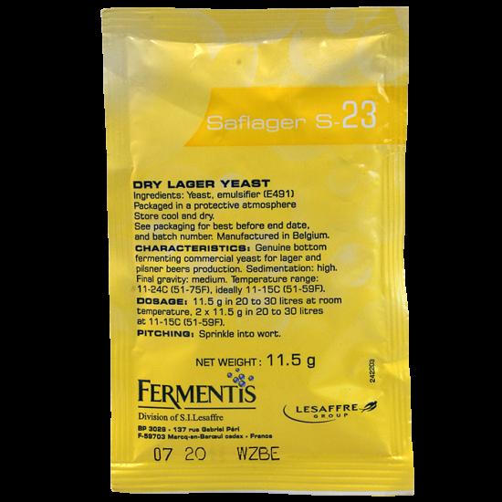 Fermentis Brewing Yeast - Saflager S-23 - For Lager and Pilsner - 11.5g Sachet