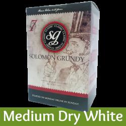 Solomon Grundy Classic - Medium Dry White Wine Kit - 30 Bottle - Seven Day Kit