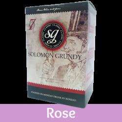 Solomon Grundy Classic - Rose Wine Kit - 30 Bottle - Seven Day Kit