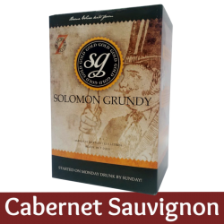Solomon Grundy Gold - Cabernet Sauvignon Wine Kit - 30 Bottle - Seven Day Kit