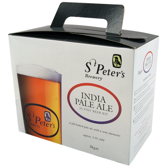 St Peters India Pale Ale - 32 Pint Beer Kit - Full Bodied, Strong Golden Ale