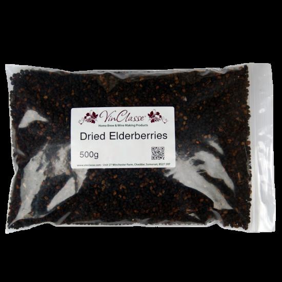 Dried Elderberries - 500g Bag