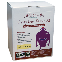 VinClasse Italian Style White Wine Kit - 23 Litres 7 Day - Requires Sugar