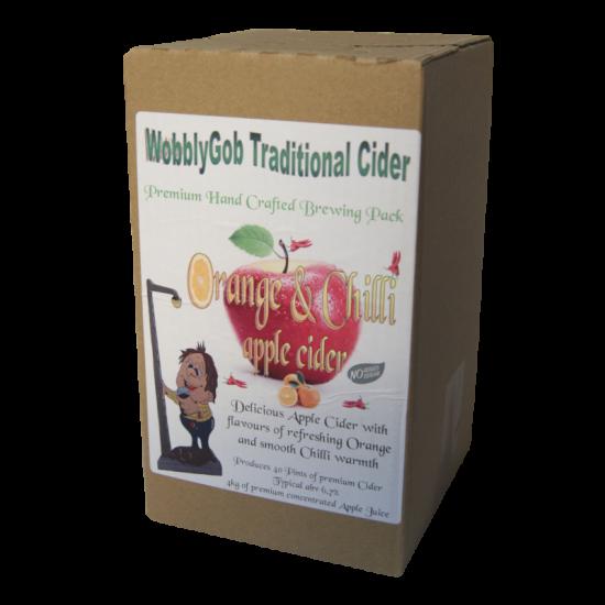 WobblyGob - Orange And Chilli Apple Cider - 40 Pint