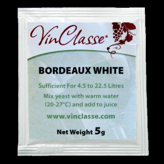 VinClasse Wine Making Yeast - Bordeaux White - 5g Sachet