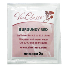 VinClasse Wine Making Yeast - Burgundy Red - 5g Sachet