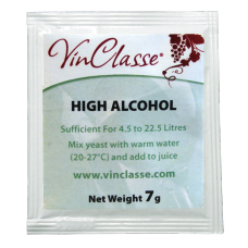 VinClasse Wine Making Yeast - High Alcohol - 7g Sachet