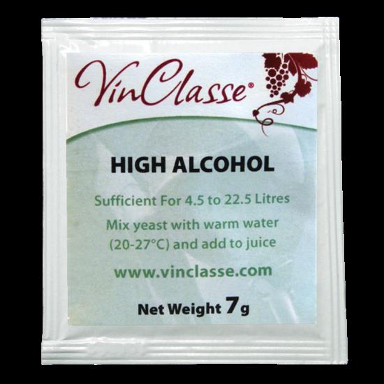 VinClasse Wine Making Yeast - High Alcohol - 7g Sachet