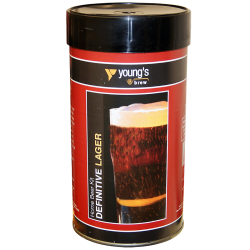 Youngs Definitive Lager - 1.5kg - 40 Pint - Single Tin Beer Kit